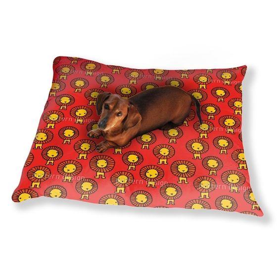 Uneekee Lions Dog Pillow Luxury Dog / Cat Pet Bed