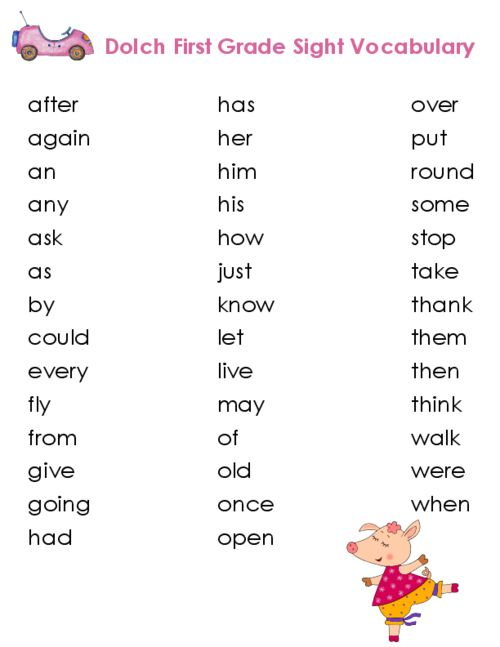 Printables Vocabulary For First Grade my third 100 words comprehension reading and vocabulary edward dolch compiled a list of grade appropriate sight for children to learn download