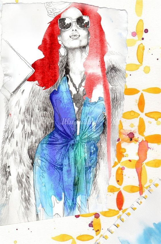 Fashion Illustration by Max Gregor - absolutely love the colour use in this piece! #art #illustration