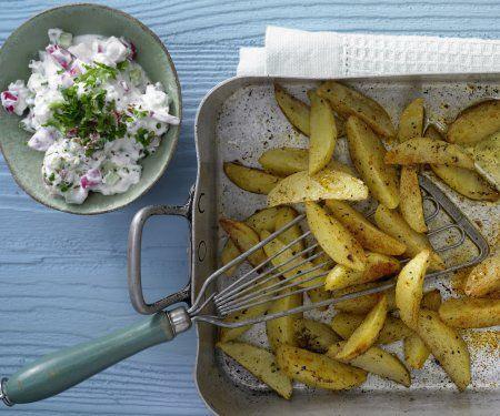 Rezept: Gebackene Kartoffelspalten