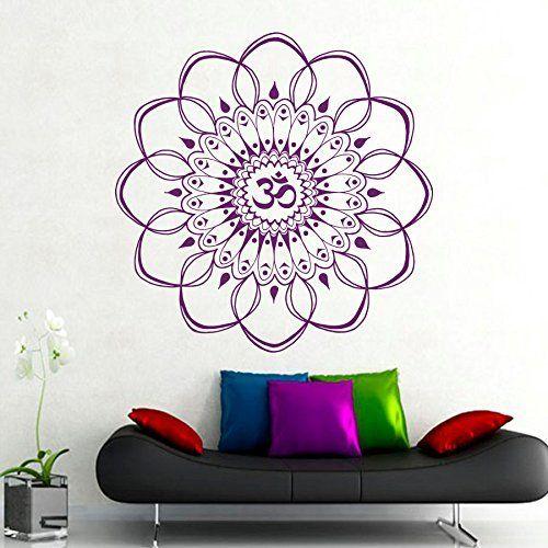 gross wandtattoo ornament indischer mandala. Black Bedroom Furniture Sets. Home Design Ideas
