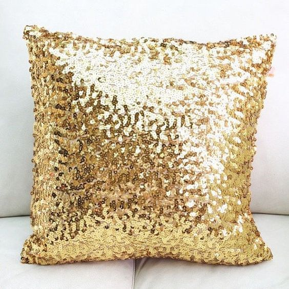 New Sequin Metallic Throw Pillow / Cushion by SparklePonyShop