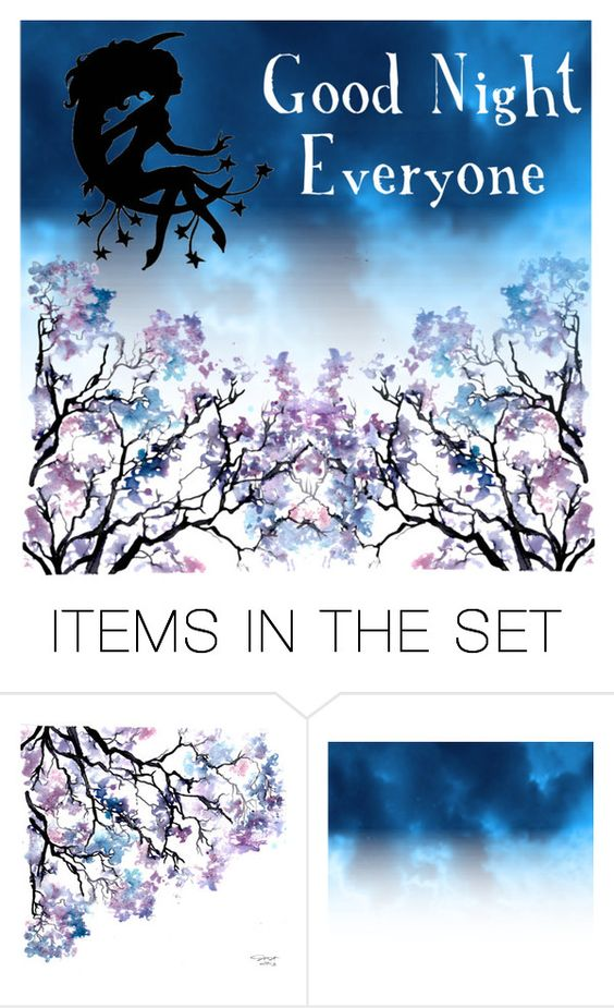 """""""Good Night Everyone"""" by shadow-cheshire ❤ liked on Polyvore featuring art"""