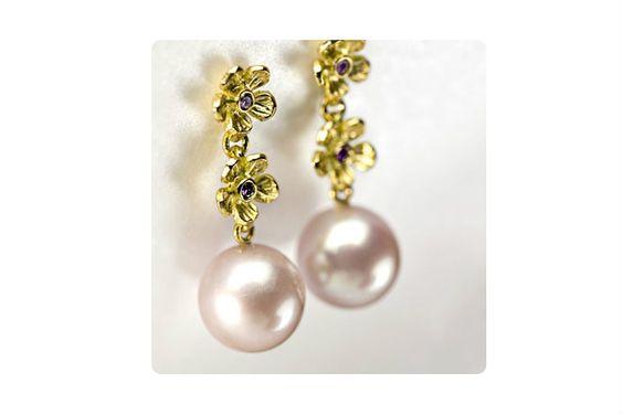 Øreringe fra Milas Jewellery #earrings #perler #pearls
