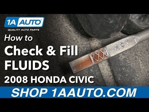 How To Check And Fill Under Hood Fluids 2008 Honda Civic Youtube Honda Civic Civic 2008 Honda Civic