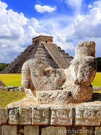 Maya Ancient Chac Mool, Chichen Itza, Mexico I have travelled to this karmic place several times over the past 13 yrs. The energy is depleting now- but in the drenched breeze the cries and whispers of the ancients echo on....