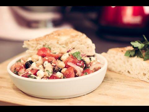 Rezept : griechischer Kichererbsensalat vegetarisch
