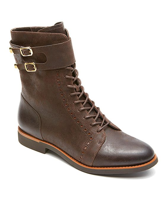 Coach Alanda Brogue Leather Boot #zulily