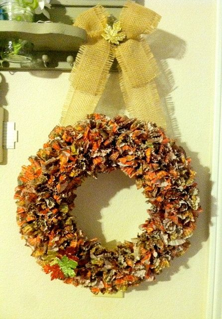 Custom Made FALL Cupcake Liner Wreath  Perfect by SasafrasCrafts, $28.00