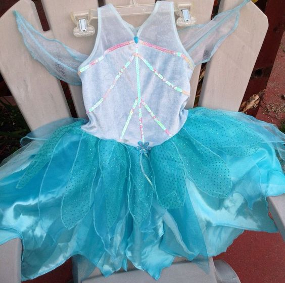 EURO DISNEY PERIWINKLE SILVERMIST TINKERBELL FAIRY TINK COSTUME DRESS XXS 2 3 in Clothing, Shoes, Accessories, Costumes, Girl's Costumes | eBay