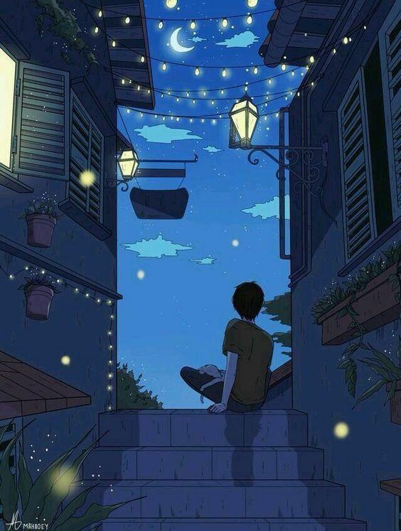 Hd Wallpaper Beautiful Art Paintings Anime Scenery Wallpaper Lonely Art