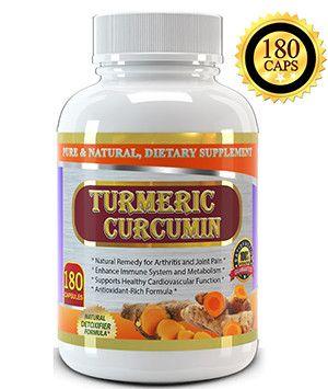 Pure Turmeric Curcumin Extract 1000mg per Serving - 180 Vegetable Capsules - Great Value Size, High Potency Turmeric Curcumin Supplement, Standardized to Turmeric 95% Curcuminoids, Made in USA.