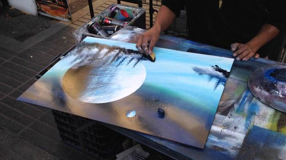 Barcelona Spray Paint Artwork