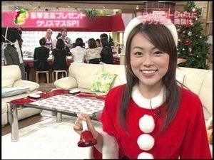 本田朋子サンタに扮して可愛い笑顔