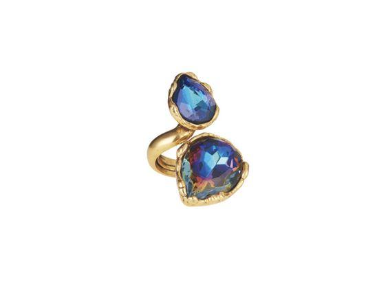 Oscar de la Renta Two Crystal Ring, $195