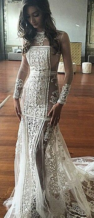 Intricate Wedding Dress with flawless details to look one of a kind