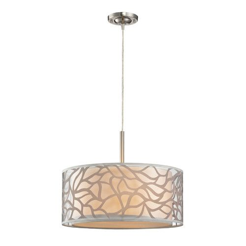 found it at wayfair autumn breeze 3 light drum pendant chandeliers pendants wayfair drum lighting