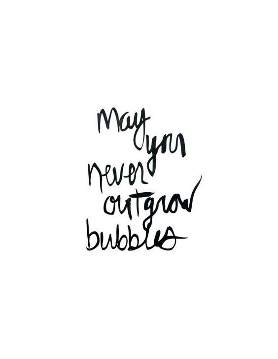 Bubbles | Handlettering Print on Etsy, $20.00
