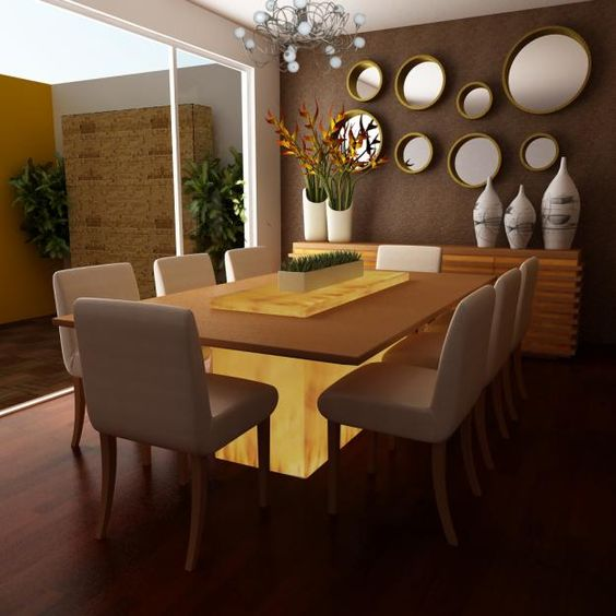 Moderno comedor decoraci n de interiores pinterest for Comedor decoracion