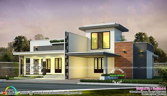 1700 Sq Ft 2 Bedroom Single Floor House Kerala House Design Single Floor House Design Unique House Design