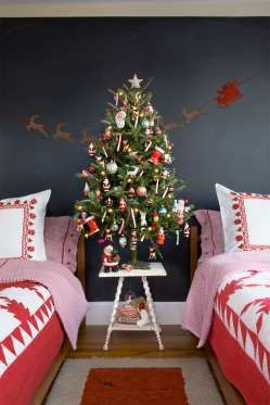 Perfect for a kids' room, this retro tree is as jolly as Kris Kringle himself, thanks to a vintage t... - Monica Buck