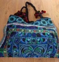 Large Tibetan Embroidered Bag Turquoise £48.00