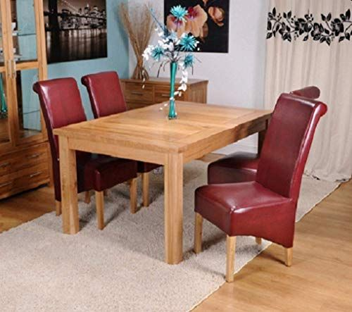 Kelsey Stores Solid Oak Extending Dining Table And Six Bonded