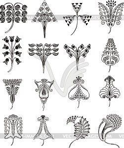 einfache florale ornamente im jugendstil vektorisierte. Black Bedroom Furniture Sets. Home Design Ideas
