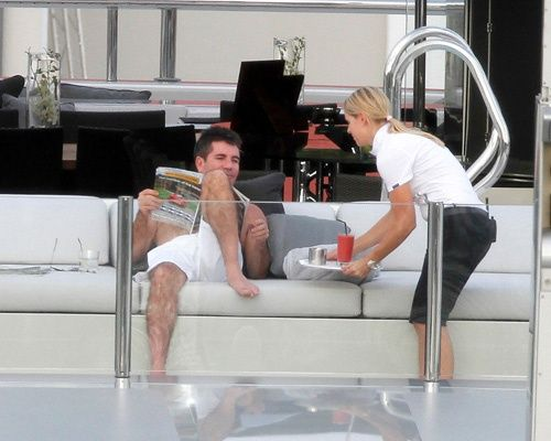 Shirtless Simon Cowell at celeb hot spot St. Barts celebrities