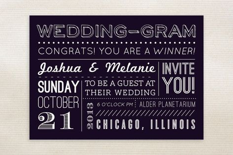 Minted 'Wedding-Gram' Invites