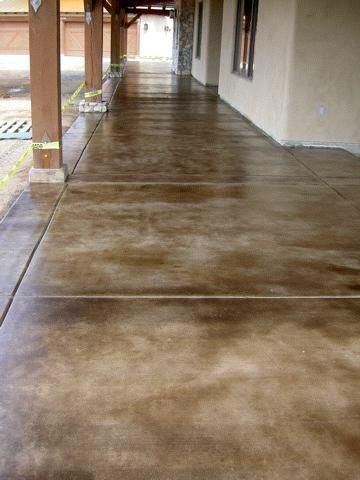 concrete acid stained floor...perfect for that ugly indoor porch ...