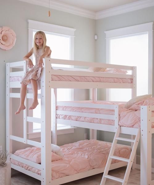 Fantastic Sydney L Shaped Triple Bunk Bed In White For The Kiddos In Beutiful Home Inspiration Xortanetmahrainfo