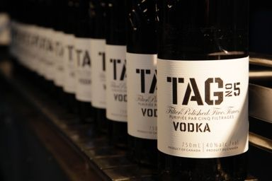 Tall Boys - a craft brew house that prides itself on local fare has Tag vodka, made right in Oakville Ontario, for those who like craft but may not be feeling beer. Cheers Tall Boys!