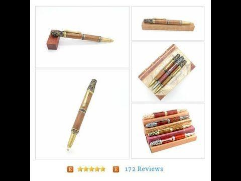 Handcrafted Antique Brass Victorian Pen featuring Hawaiian Koa, European…