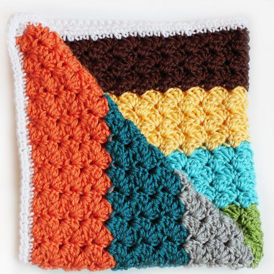 Free Pattern for this Modern Striped Crochet Blanket Using ...