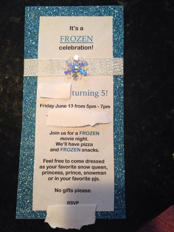 Disneys Frozen Birthday Party Invite Princess Invitation DIY