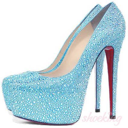 Light Blue High Heels