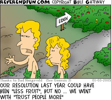 "ReverendFun.com : Cartoon for Jan 3, 2005: ""Regretting Resolutions"":"