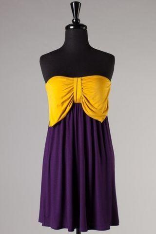 Purple  Gold LSU/ECU Gameday Dress!