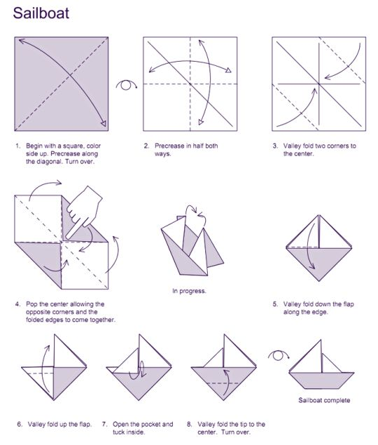 origami and sailboats on pinterest