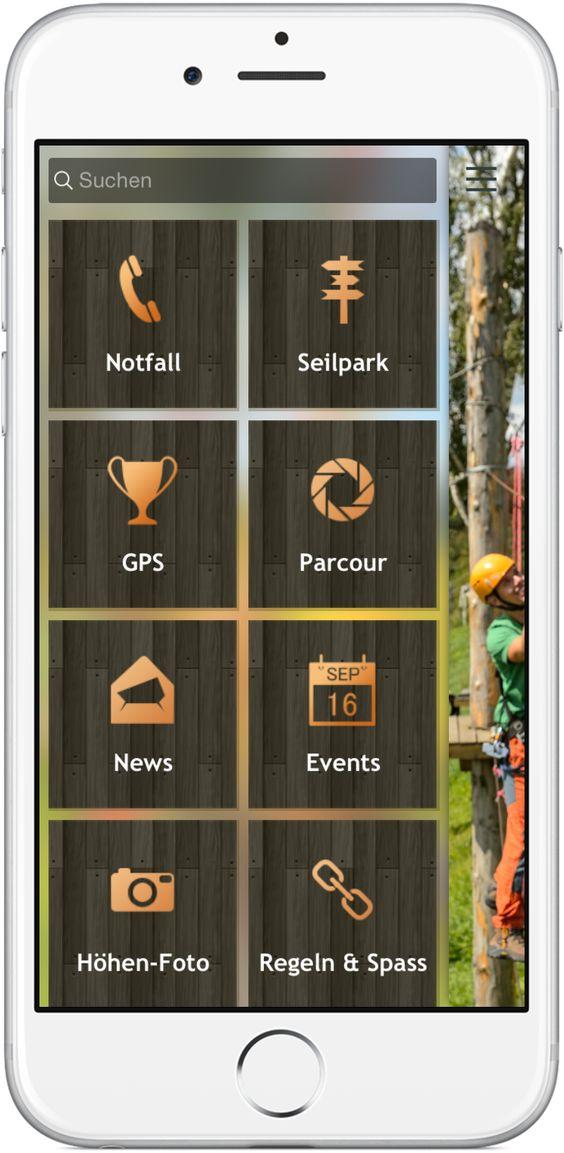 Mobile Marketing - Genau die richtigen Funktionen in der App für Adventure & Seilpark http://nextvisionapps.com/de/online-demo-seilpark