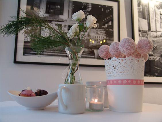 Winterliche Candy Bar in altrosa-weiß gehalten Part3