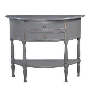 Demi-lune Table, custom wood finish, custom paint finish, transitional style, restoration style