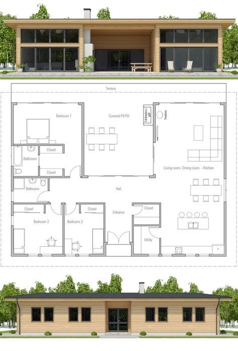Modular Home Plan Three Bedroom House Plan Floor Plan Prefab
