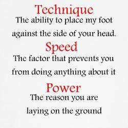 Technique Speed and Power Taekwondo