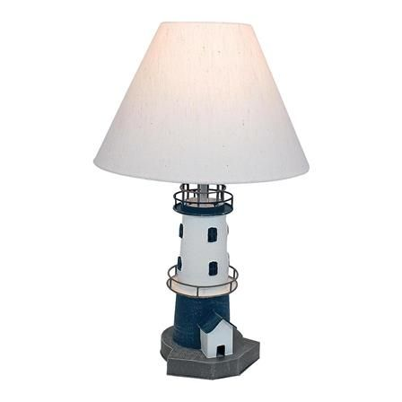 Lighthouse Table Lamp, Blue/ White | ACHICA