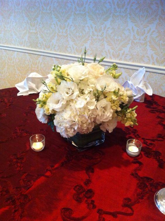All white arrangement