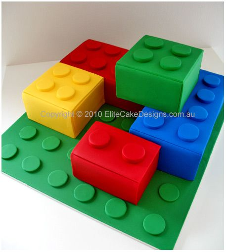 Lego Blocks Cake Design : Love this Lego Cake design! Very smart! Birthday party ...