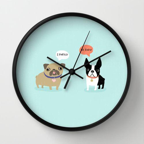 Dog Fart Wall Clock