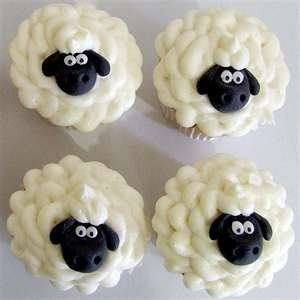 decorate sheep cupcakes by elinor